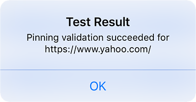 pinning validation secceeded